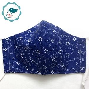 Egyedi klkfestő virág mintás arcmaszk- felnőtt női és teenager maszk - textil szájmaszk - egészségügyi szájmaszk (Pindiart) - Meska.hu