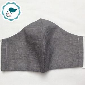 Egyedi szájmaszk - férfi szürke szájmaszk - textil szájmaszk - egészségügyi szájmaszk (Pindiart) - Meska.hu