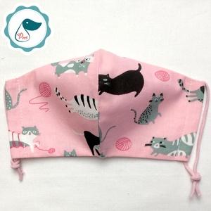 Egyedi lusta cica mintás kiskamasz szájmaszk - textil szájmaszk - egészségügyi szájmaszk - mosható szájmaszk (Pindiart) - Meska.hu