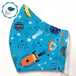 Egyedi bolygó mintás kiskamasz szájmaszk - textil szájmaszk - egészségügyi szájmaszk - mosható szájmaszk (Pindiart) - Meska.hu