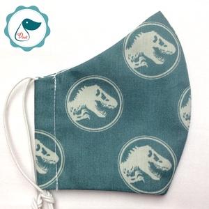 Egyedi Jurassic world mintás - kiskamasz - textil szájmaszk - egészségügyi szájmaszk - mosható szájmaszk - Meska.hu