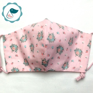 Egyedi vintage virág csokor mintás - kiskamasz - textil szájmaszk - egészségügyi szájmaszk - mosható szájmaszk (Pindiart) - Meska.hu