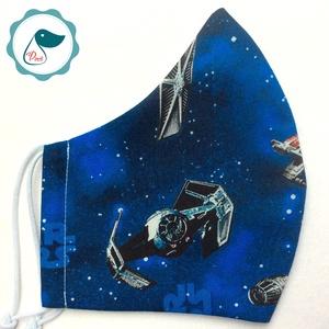 Maszk - star wars - mintás egyedi szájmaszk - férfi szájmaszk - textil szájmaszk - egészségügyi szájmaszk (Pindiart) - Meska.hu