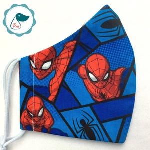 Egyedi pókemberes maszk - textil arcmaszk - egészségügyi szájmaszk - mosható szájmaszk (Pindiart) - Meska.hu