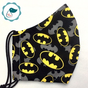 Egyedi batman logo mintásarcmaszk - kiskamasz  textil maszk - egészségügyi szájmaszk - mosható szájmaszk - maszk, arcmaszk - férfi & uniszex - Meska.hu