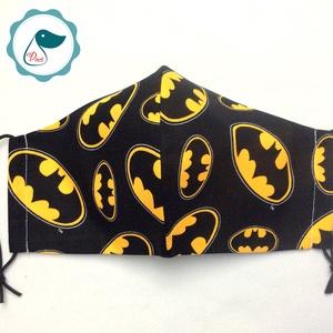 Egyedi batman logo mintás - felnőtt női és teenager szájmaszk - textil szájmaszk - egészségügyi szájmaszk (Pindiart) - Meska.hu