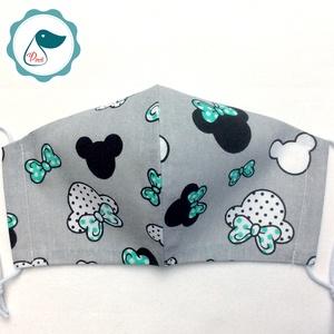Egyedi mikiegér mintás arcmaszk - felnőtt női és teenager maszk - textil szájmaszk - egészségügyi szájmaszk (Pindiart) - Meska.hu