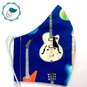 Egyedi szájmaszk -gitáros felnőtt női és teenager szájmaszk - textil szájmaszk - egészségügyi szájmaszk (Pindiart) - Meska.hu
