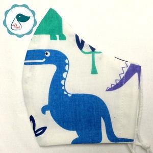 Egyedi dinoszaurusz mintás kiskamasz szájmaszk - textil szájmaszk - egészségügyi szájmaszk - mosható szájmaszk - Meska.hu