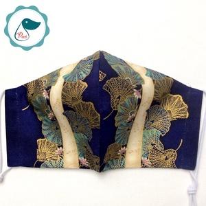 Egyedi exluziv arany,mintás textil - felnőtt női és teenager - textil szájmaszk - egészségügyi szájmaszk - maszk, arcmaszk - női - Meska.hu