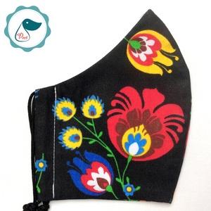 Egyedi népimotívum - felnőtt női és teenager szájmaszk - textil szájmaszk - egészségügyi szájmaszk (Pindiart) - Meska.hu