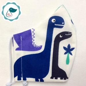 Egyedi dinoszaurusz mintás kiskamasz arcmaszk - textil maszk - egészségügyi szájmaszk - mosható szájmaszk (Pindiart) - Meska.hu