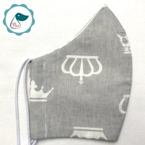 Egyedi korona mintás arcmaszk - felnőtt női és teenager maszk - textil szájmaszk - egészségügyi szájmaszk - Meska.hu