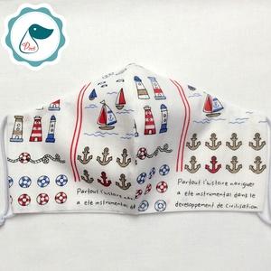 Akciós Férfi tengerészes maszk -egyedi arcmaszk - textil szájmaszk - egészségügyi szájmaszk - mosható maszk (Pindiart) - Meska.hu