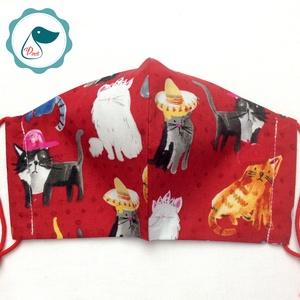 Cicás maszk - felnőtt női és teenager arcmaszk - egyedi textil szájmaszk - egészségügyi szájmaszk (Pindiart) - Meska.hu