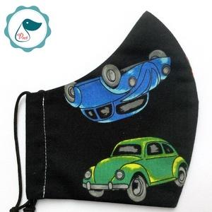 Férfi  Wolkvagen bogár - egyedi arcmaszk - textil szájmaszk - egészségügyi szájmaszk - mosható maszk (Pindiart) - Meska.hu
