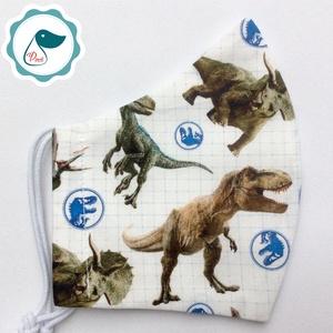 Egyedi Jurassic world mintás - kiskamasz arcmaszk - Dinós textil szájmaszk - egészségügyi szájmaszk - mosható szájmaszk (Pindiart) - Meska.hu