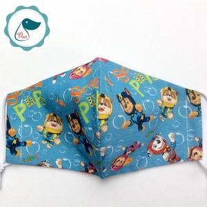 Egyedi mancsórjáratos maszk- gyerek  arcmaszk - textil szájmaszk - egészségügyi szájmaszk - mosható szájmaszk - Meska.hu