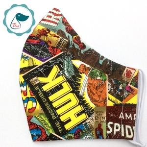 Férfi Marvel maszk - szuperhősök egyedi képregényes arcmaszk - textil szájmaszk -egészségügyi szájmaszk - mosható maszk (Pindiart) - Meska.hu