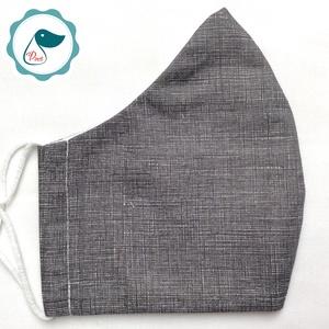 Egyedi grafit szürke lenhatásu maszk - felnőtt női és teenager szájmaszk - textil szájmaszk - egészségügyi szájmaszk (Pindiart) - Meska.hu