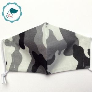 Egyedi terep mintás maszk- gyerek  arcmaszk - textil szájmaszk - egészségügyi szájmaszk - mosható szájmaszk (Pindiart) - Meska.hu