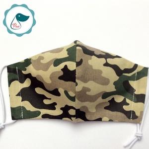 Egyedi terep mintás maszk - kiskamasz arcmaszk - textil szájmaszk - egészségügyi szájmaszk - mosható szájmaszk (Pindiart) - Meska.hu
