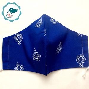 Egyedi kékfestő arcmaszk - felnőtt női és teenager maszk - textil szájmaszk - egészségügyi szájmaszk (Pindiart) - Meska.hu