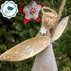 Egyedi - karácsonyi  forgács angyalka dísz - karácsonyi dekorácíó angyalka -karácsonyfa dísz (Pindiart) - Meska.hu