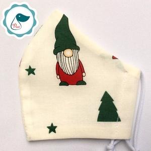 Egyedi manós maszk - karácsonyi gyerek  arcmaszk - textil szájmaszk - egészségügyi szájmaszk - mosható szájmaszk (Pindiart) - Meska.hu