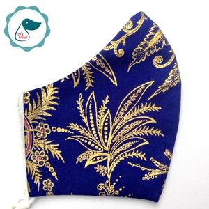 Egyedi exluziv arany maszk - textil arcmaszk - felnőtt női és teenager maszk - egészségügyi szájmaszk (Pindiart) - Meska.hu
