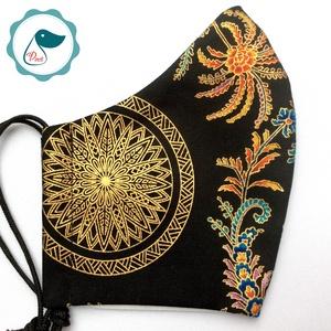 Egyedi exluziv arany,mandalás maszk - textil arcmaszk - felnőtt női és teenager maszk - egészségügyi szájmaszk (Pindiart) - Meska.hu