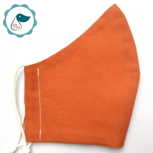 Egyedi rozsdabarna egyszínű arcmaszk - felnőtt női és teenager maszk - textil szájmaszk - egészségügyi szájmaszk (Pindiart) - Meska.hu