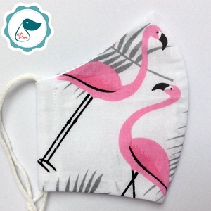 Egyedi flamingó mintás maszk - kiskamasz arcmaszk - textil szájmaszk - egészségügyi szájmaszk - mosható szájmaszk (Pindiart) - Meska.hu