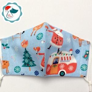 Egyedi karácsonyi - télapós maszk - kiskamasz - textil arcmaszk - egészségügyi szájmaszk - mosható szájmaszk (Pindiart) - Meska.hu