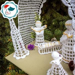 Egyedi horgolt  Bethlehem -  karácsonyi dekorácíó- karácsonyi ajándék - Ablak dísz (Pindiart) - Meska.hu