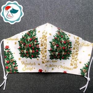 Egyedi karácsonyi mintás maszk - felnőtt női és teenager arcmaszk - textil szájmaszk - egészségügyi maszk (Pindiart) - Meska.hu