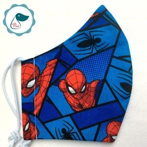 Egyedi pókember mintás maszk- kiskamasz  marvel arcmaszk - textil szájmaszk - egészségügyi szájmaszk - mosható szájmaszk - Meska.hu