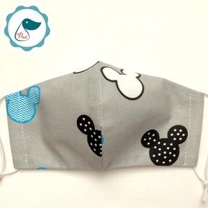 Egyedi mikiegér mintás maszk - kiskamasz arcmaszk - textil arcmaszk - egészségügyi maszk - mosható szájmaszk (Pindiart) - Meska.hu