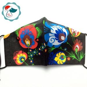 Egyedi  magyar motívumú arcmaszk - felnőtt női és teenager maszk - textil szájmaszk - egészségügyi szájmaszk (Pindiart) - Meska.hu