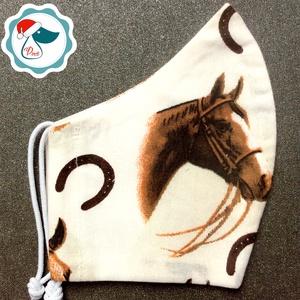 Egyedi lovas arcmaszk - felnőtt női és teenager maszk - textil szájmaszk - egészségügyi szájmaszk - Meska.hu