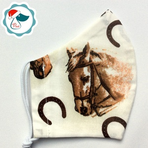 Egyedi lovas arcmaszk - felnőtt női és teenager maszk - textil szájmaszk - egészségügyi szájmaszk (Pindiart) - Meska.hu