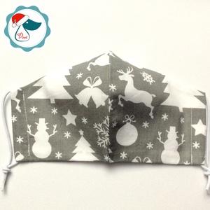 Karácsonyi mintás arcmaszk - felnőtt női és teenager maszk - textil szájmaszk - egészségügyi szájmaszk (Pindiart) - Meska.hu
