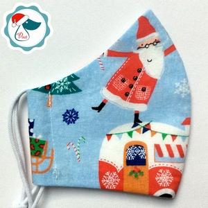 Karácsonyi mintás maszk- kiskamasz arcmaszk - Dinós textil szájmaszk - egészségügyi szájmaszk - mosható szájmaszk (Pindiart) - Meska.hu