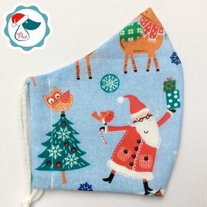 Egyedi karácsonyi  mintás maszk - felnőtt női és teenager arcmaszk - textil szájmaszk - egészségügyi szájmaszk (Pindiart) - Meska.hu