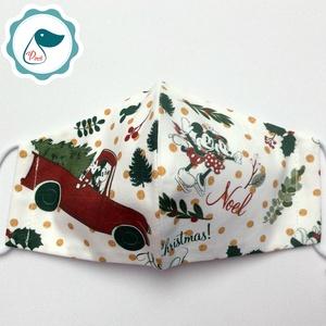 Karácsonyi mintás -  gyerek szájmaszk - textil szájmaszk - egészségügyi szájmaszk (Pindiart) - Meska.hu