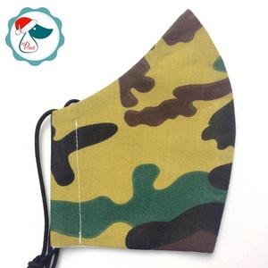 Egyedi terep mintás arcmaszk - felnőtt női és teenager maszk - textil szájmaszk - egészségügyi szájmaszk (Pindiart) - Meska.hu