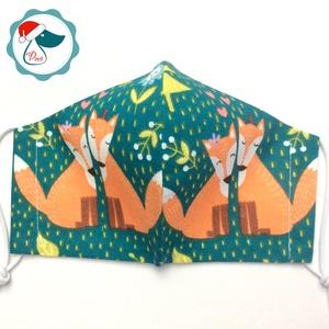 Egyedi rókás arcmaszk - felnőtt női és teenager maszk - textil szájmaszk - egészségügyi szájmaszk (Pindiart) - Meska.hu