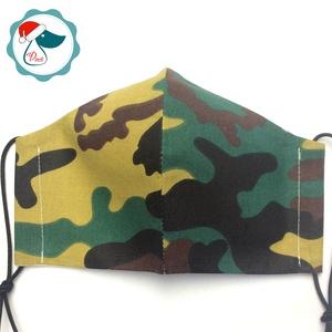 Egyedi terep mintás maszk - kiskamasz arc maszk - textil szájmaszk - egészségügyi szájmaszk - mosható szájmaszk (Pindiart) - Meska.hu