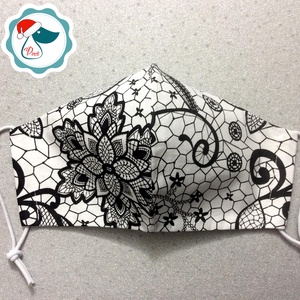 Egyedi csipke hatású pamut maszk  - felnőtt női és teenager arcmaszk - textil szájmaszk - egészségügyi szájmaszk - Meska.hu
