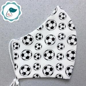 Egyedi- férfi futball labdás maszk -  ptémium mosható szájmaszk - textil szájmaszk - egészségügyi szájmaszk - Meska.hu
